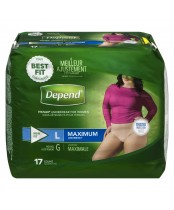 Depend  Fit-Flex Large Maximum Absorbency Underwear For Women
