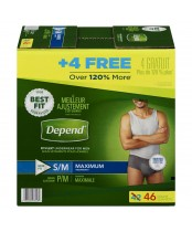 Depend Fit-Flex S/M Maximum Absorbency Underwear For Men