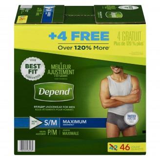 Depend Fit-Flex S/M Maximum Absorbency Underwear For Men