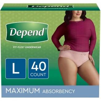 Depend Fit-Flex Underwear for Women 40 Count