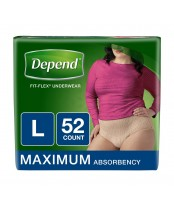 Depend Fit-Flex Underwear for Women Large