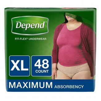 Depend Fit-Flex Underwear for Women X-Large