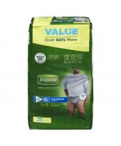 Depend  Fit-Flex X-Large Maximum Absorbency Underwear For Men Value Pack