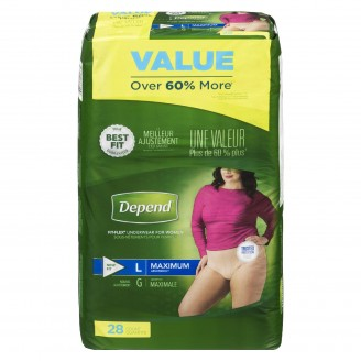 Depend Maximum Absorbency Large For Women Value Pack