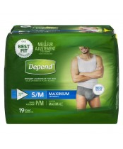 Depend Maximum Absorbency Small/Medium For Men