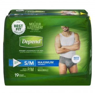 Depend Maximum Absorbency Small/Medium For Men