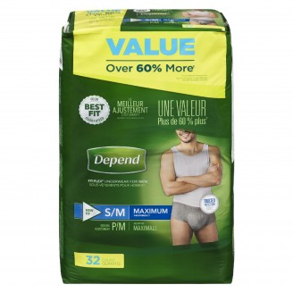 Depend Maximum Absorbency Small/Medium For Men Value Pack