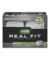 Depend Real Fit Maximum Absobency Briefs for Men