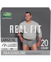 Depend Real Fit Underwear for Men Maximum Absorbency 20 Count