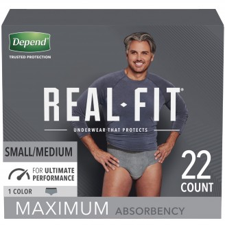 Depend Real Fit Underwear for Men Maximum Absorbency 22 Count