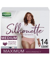 Depend Silhouette Underwear for Women Maximum Absorbency 14 Count