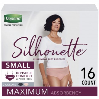 Depend Silhouette Underwear for Women Maximum Absorbency 16 Count