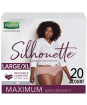 Depend Silhouette Underwear for Women Maximum Absorbency 20 Count