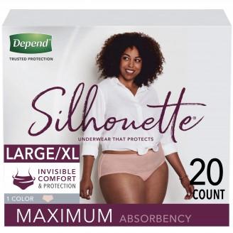 Depend Silhouette Underwear for Women Maximum Absorbency 20 Count