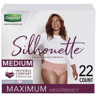 Depend Silhouette Underwear for Women Maximum Absorbency 22 Count