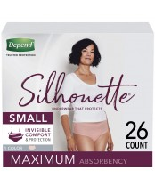Depend Silhouette Underwear for Women Maximum Absorbency 26 Count