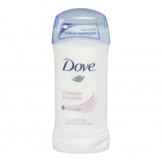 Dove Invisible Solid Powder Antiperspirant.