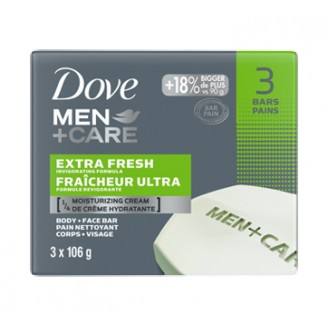 Dove Men + Care Body and Face Bar, Extra Fresh