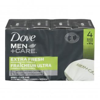 Dove Men + Care Extra Fresh Invigorating Formula Body + Face Soap Bar