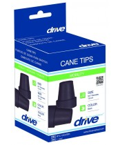 Drive Medical Cane Tip 3/4 Inch Diameter, Black