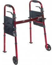 Drive Medical Deluxe Portable Folding Travel Walker with 5