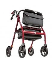 Drive Medical Hugo Elite Rolling Walker with Seat - Red
