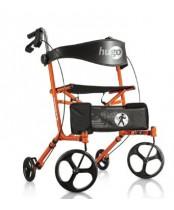 Drive Medical Hugo Sidekick Side-Folding Walker Rollator With Seat - Tangerine