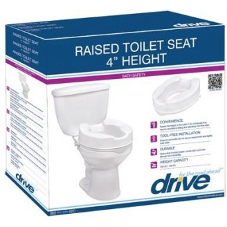 Drive Raised Toilet Seat with Lid