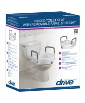 Drive Raised Toilet Seat with Removable Arms