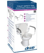 Drive Toilet Safety Rail with Adjustable Width Arms