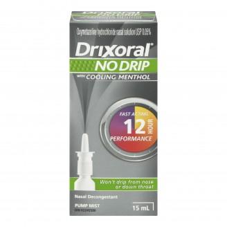 Drixoral No Drip with Cooling Menthol Nasal Spray