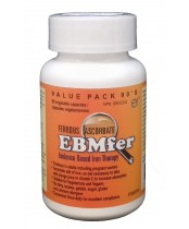 EBMfer Ferrous Ascorbate Iron Therapy Capsules Value Pack