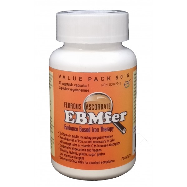 Buy EBMfer Ferrous Ascorbate Iron Therapy Capsules Value ...