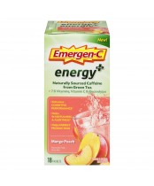 Emergen-C Energy Plus Supplement Drink Mix with Caffeine Mango-Peach Flavour