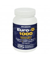 Euro-D 1000 Vitamin D Dietary Supplement