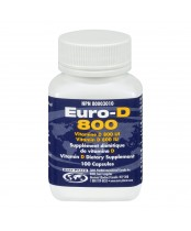 Euro-D 800 Vitamin D Dietary Supplement