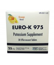 Euro-K 975 Potassium Supplement Effervescent Tablets