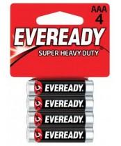 Eveready Super Heavy Duty Carbon Zinc AAA Batteries