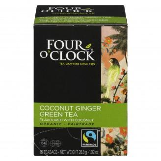 Four O'Clock Coconut Ginger Green Tea
