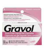Gravol Dimenhydrinate Taste Free Liquid Gel Capsules for Adults