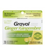 Gravol Natural Source Certified Organic Ginger Lozenges