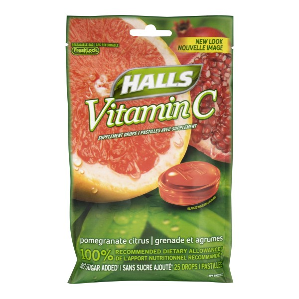 Buy Halls Vitamin C Supplement Drops In Canada Free