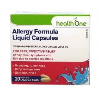 health One Allergy Formula Liquid Capsules