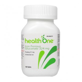 health One Iron Ferrous Gluconate Tablets