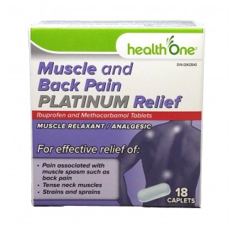 health One Muscle and Back Pain Platinum Relief Caplets