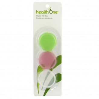 health One Round Plastic Pill Box