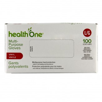 health One Vinyl Gloves - Large