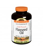 Holista Cold Pressed Flaxseed Oil Softgels Bonus Size