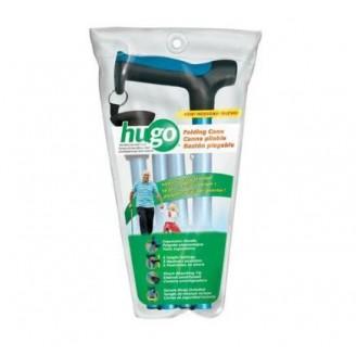 Hugo Mobility Adjustable Folding Cane with Reflective Strap, Aqua