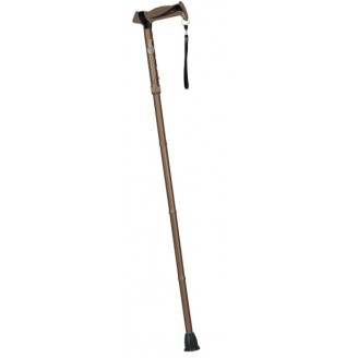 Hugo Mobility Adjustable Folding Cane with Reflective Strap, Cocoa